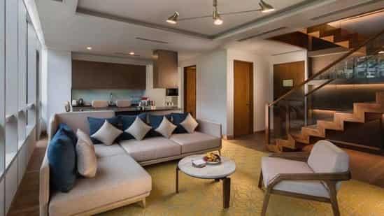 Hyatt Delhi Residences Townhouse Living Room.(Hyatt Delhi Residences)